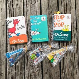 New 3 Dr Seuss Repurpose Kids Book Journal *Extras